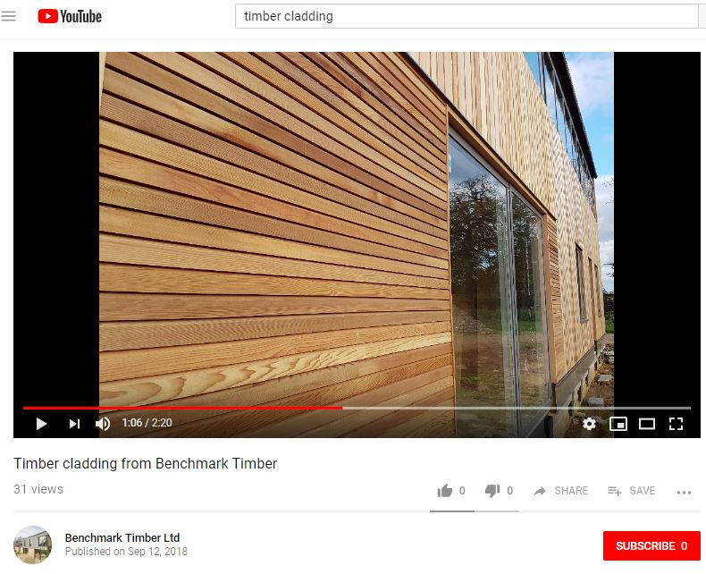 timber cladding from benchmark timber