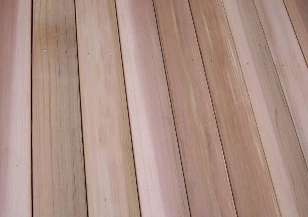 Cedar Decking, Sustainable Premium Clear Western Red Cedar Decking