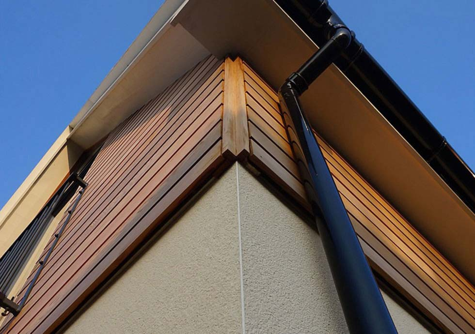 timber cladding installation